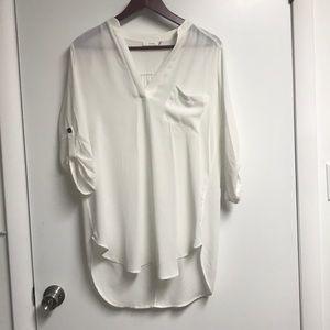 Lush white tunic